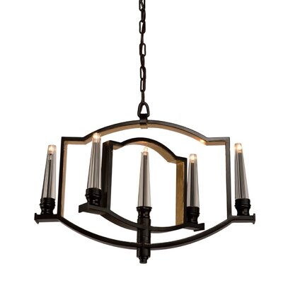 Aidan 5-Light Candle-Style Chandelier Finish: Oil Rubbed Bronze