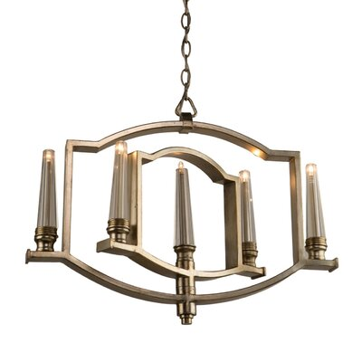 Aidan 5-Light Candle-Style Chandelier Finish: Silver Leaf
