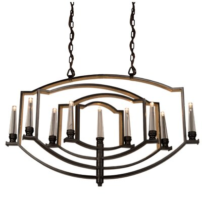 Aidan 9-Light Candle-Style Chandelier Finish: Oil Rubbed Bronze