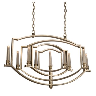 Aidan 9-Light Candle-Style Chandelier Finish: Silver Leaf