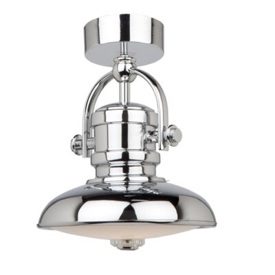 Zoey 1-Light Mini Pendant Finish: Chrome, Size: 9.5 H x 12 W
