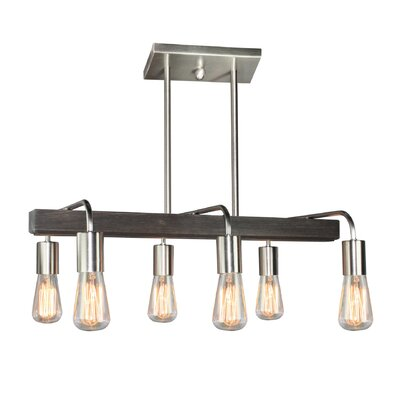 Lynwood 6-Light Kitchen Island Pendant Finish: Brushed Nickel