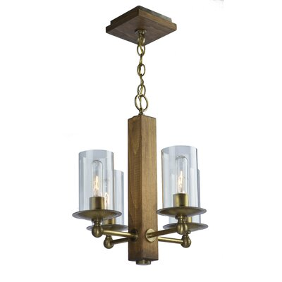 Legno Rustico 4-Light Candle-Style Chandelier Finish: Burnished Brass