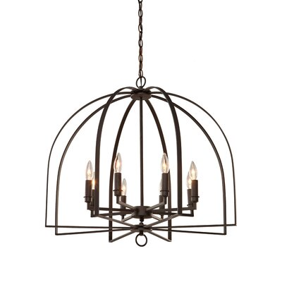 Birds of a Feather 8-Light Candle-Style Chandelier Finish: Black