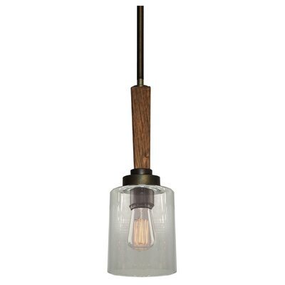 Legno Rustico 1-Light Mini Pendant Finish: Burnished Brass