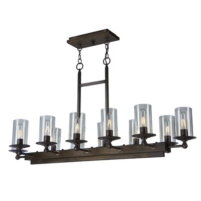 Legno Rustico 12-Light Kitchen Island Pendant Finish: Brunito