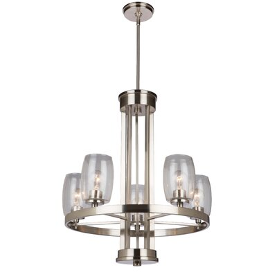 Nelly 5-Light Candle-Style Chandelier Finish: Brushed Nickel