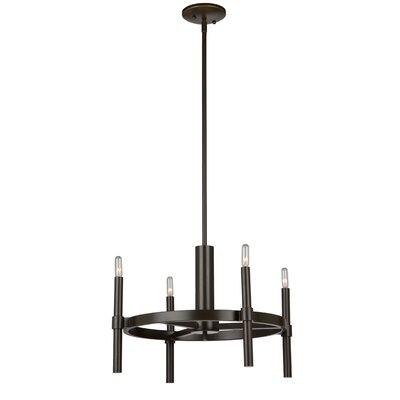 Bushong 4-Light Candle-Style Chandelier Finish: Polished Nickel