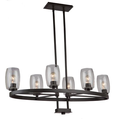San Antonio 6-Light Candle-Style Chandelier Finish: Java Brown