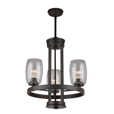 Nelly 3-Light Candle-Style Chandelier Finish: Java Brown