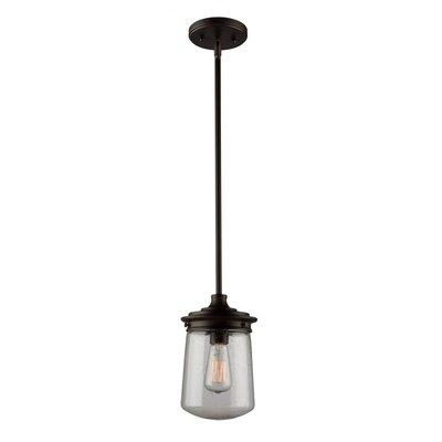 Hayley 1-Light Mini Pendant Size: 11.25 H x 7 W x 7 D