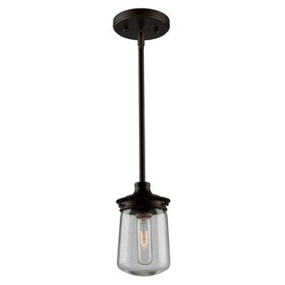 Hayley 1-Light Mini Pendant Size: 11.25 H x 5 W x 5 D