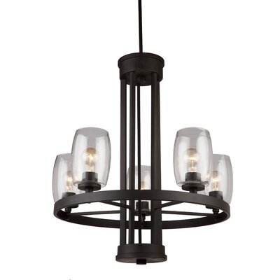 Nelly 5-Light Candle-Style Chandelier Finish: Java Brown