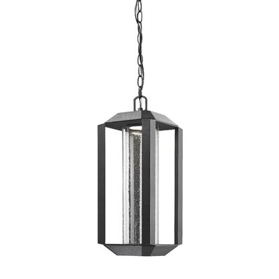 Spiro 1-Light Foyer Pendant Finish: Black