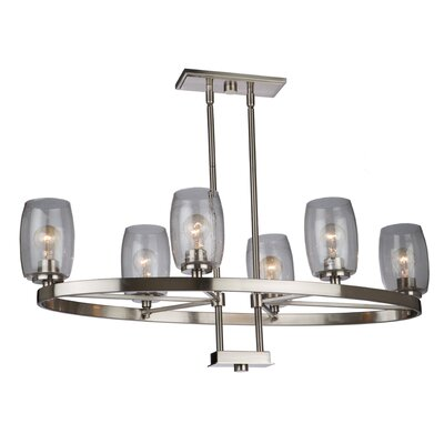 San Antonio 6-Light Candle-Style Chandelier Finish: Brushed Nickel