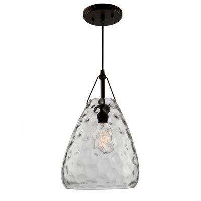 Bowker 1-Light Mini Pendant Size: 16 H x 9.5 W x 9.5 D