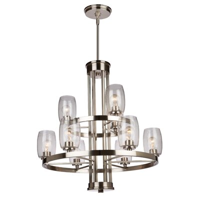 Nelly 9-Light Candle-Style Chandelier Finish: Brushed Nickel