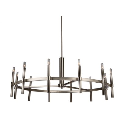Bushong 12-Light Candle-Style Chandelier Finish: Polished Nickel