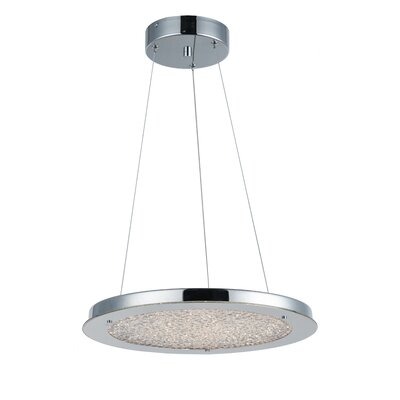 Stardust 1-Light Mini Pendant Size: 2.25 H x 16 W x 16 D