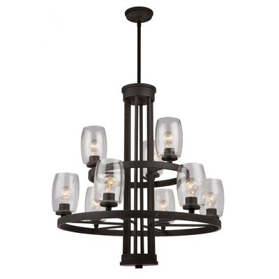 San Antonio 9-Light Candle-Style Chandelier Finish: Java Brown
