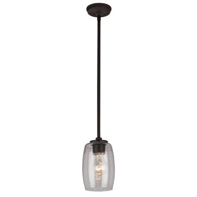 Nelly 1-Light Mini Pendant Finish: Java Brown