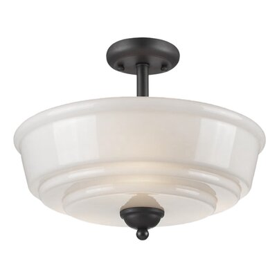 Melynnie 3-Light Semi-Flush Mount