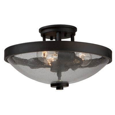 Nelly 3-Light Semi-Flush Mount Finish: Brushed Nickel