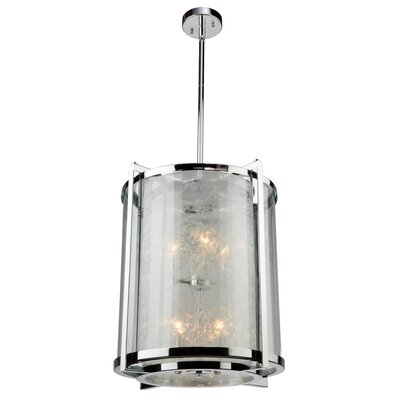 Cracked Ice 8-Light Foyer Pendant