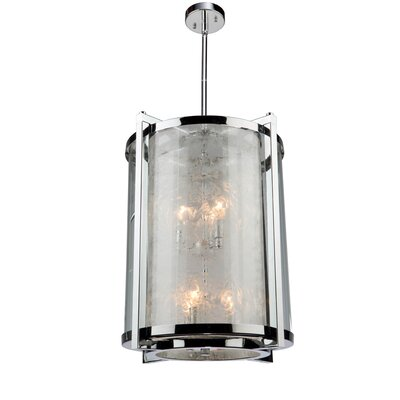 Cracked Ice 6-Light Foyer Pendant