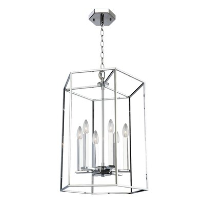 Modern Elegance 6-Light Foyer Pendant Size: Small