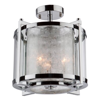 Crotts 3-Light Semi Flush Mount