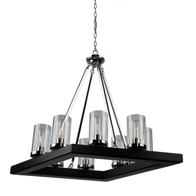 Canyon Creek 8-Light Pendant Finish: Dark Brown