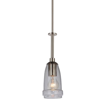 Kandice 1-Light Mini Pendant Finish: Brushed Nickel