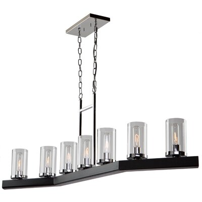 Canyon Creek 7-Light Pendant Finish: Dark Brown
