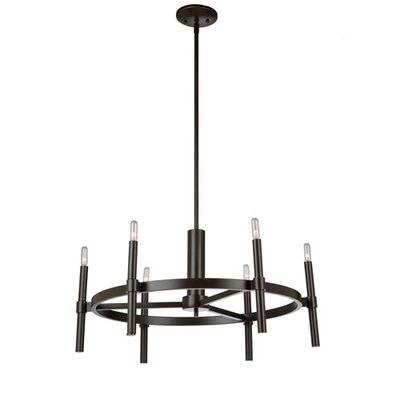 Bushong 6-Light Candle-Style Chandelier Finish: Oil Rubbed Bronze