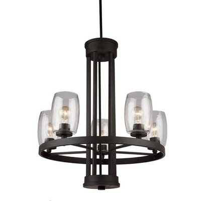 San Antonio 5-Light Candle-Style Chandelier Finish: Java Brown