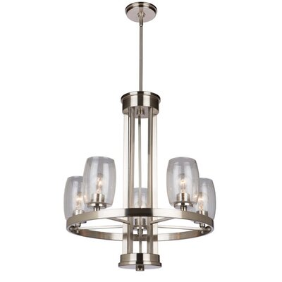 San Antonio 5-Light Candle-Style Chandelier Finish: Brushed Nickel