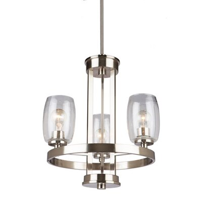 San Antonio 3-Light Candle-Style Chandelier Finish: Brushed Nickel