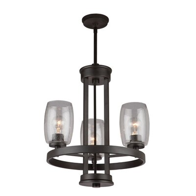 San Antonio 3-Light Candle-Style Chandelier Finish: Java Brown