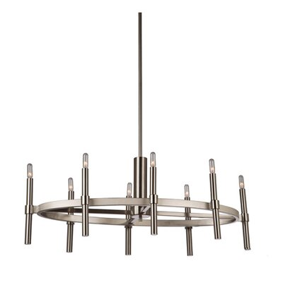 Bushong 8-Light Candle-Style Chandelier Finish: Polished Nickel