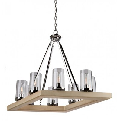 Canyon Creek 8-Light Pendant Finish: Natural Organic Wood