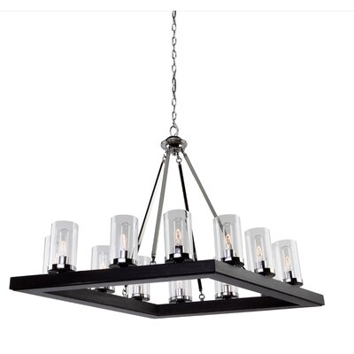 Canyon Creek 12-Light Candle-Style Chandelier Finish: Dark Brown