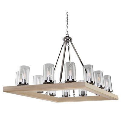 Canyon Creek 12-Light Candle-Style Chandelier Finish: Natural Organic Wood