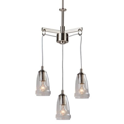 Nottingham 3-Light Cascade Pendant Finish: Brushed Nickel