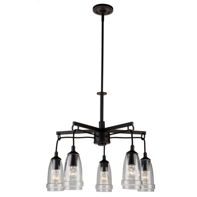 Nottingham 5-Light Shaded Chandelier Finish: Java Brown