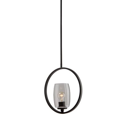 Nelly 1-Light Glass Shade Mini Pendant Finish: Java Brown