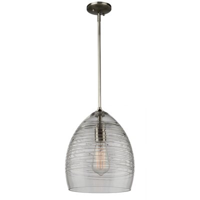 Bowker 1-Light Metal Mini Pendant Size: 12.25 H x 9.25 W x 9.25 D
