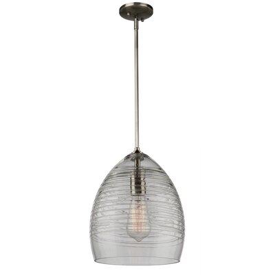 Bowker 1-Light Metal Mini Pendant Size: 12.25 H x 9.25 W x 9.25 D