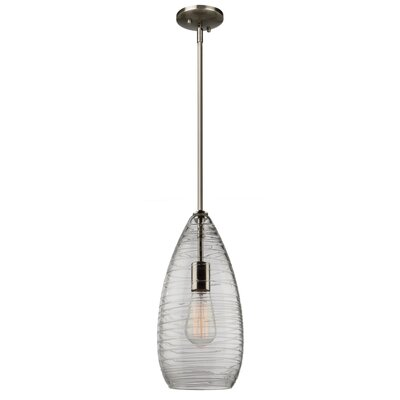 Bowker 1-Light Metal Mini Pendant Size: 16 H x 7 W x 7 D