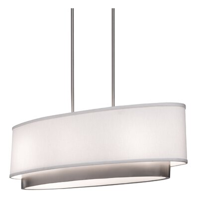 Artcraft Lighting Scandia Three Light Oval Chandelier in Brushed Nickel at Sears.com